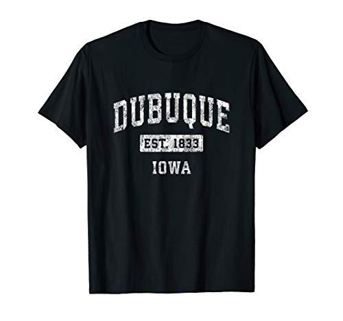 Dubuque Iowa IA Vintage Established Sports Design T-Shirt (From Lady Dubuque)