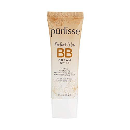 purlisse BB Tinted Moisturizer Cream SPF 30 – BB Cream for All Skin Types – Smooths Skin Texture, Evens Skin Tone – 1.4…
