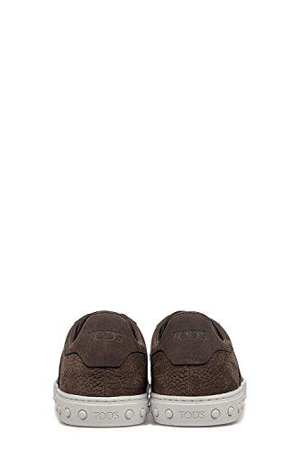 Tod's - Zapatillas de Piel para hombre Testa moro+fondo bianco