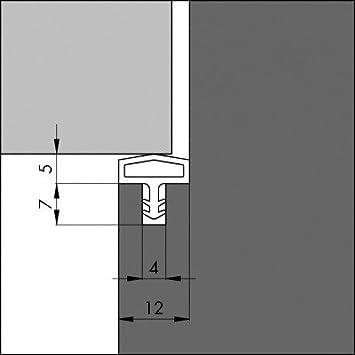 ToniTec T/ürdichtung Dichtprofil f/ür Holzt/ür Zarge Zargendichtung 12mm 50m Beige
