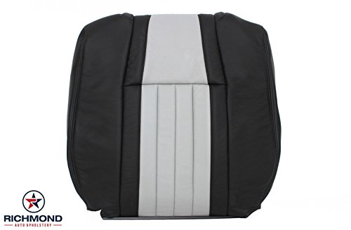2003 Ford F-150 F150 Harley Davidson Edition Supercharged Driver Side Lean Back Replacement Leather Seat Cover, Black & Gray