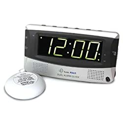 DeRoyal Sonic Boom Alarm Clock With Dual Alarm and Bed Shaker