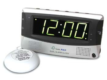 DeRoyal Sonic Boom Alarm Clock With Dual Alarm and Bed Shaker (Shaking Alarm)