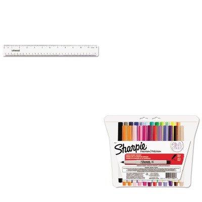 KITSAN75847UNV59022 - Value Kit - Sharpie Permanent Markers (SAN75847) and Universal Acrylic Plastic Ruler (UNV59022)