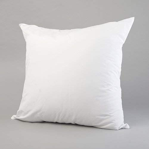 Top Hotel Quality Pillow Form Insert Cotton Covered Machine Washable IZO Home Goods 18 x 18 Angel Cluster Fiber Pillow Premium Loft
