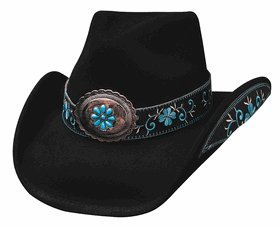 Bullhide Women's All For Good Wool Cowboy Hat Black Small