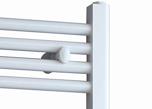 EISL BHKWZ1 Radiateur de salle de bain Chauffe-serviettes /électrique avec barre chauffante et minuterie Blanc 50 x 120 cm