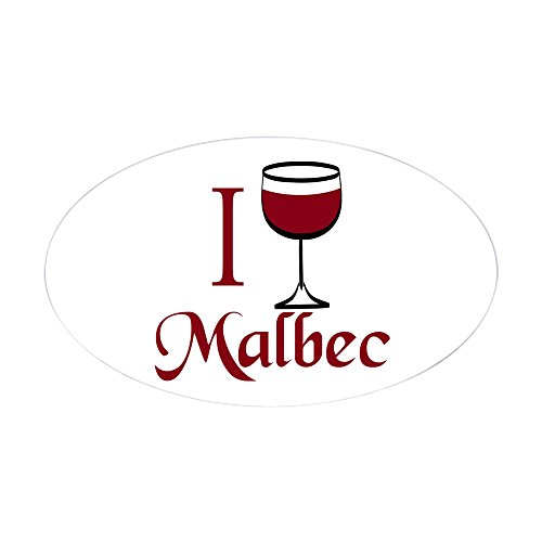 CafePress I Drink Malbec Wine Sticker (Oval) Oval Bumper Sticker, Euro Oval Car Decal