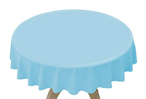 8 Pack Light Blue Disposable Plastic Tablecloth 84