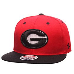 "Georgia Bulldogs Z11 ""G"" RED & BLACK Flat Bill Snapback Adjustable Cap from Zephyr"