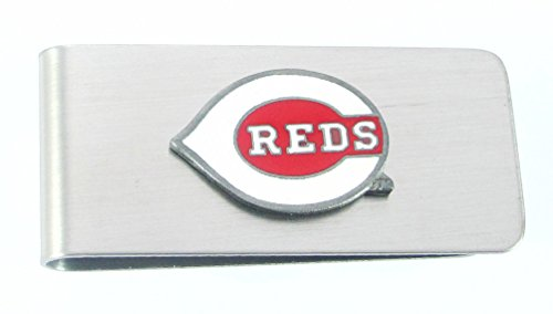 Siskiyou MLB Cincinnati Reds Steel Money Clip