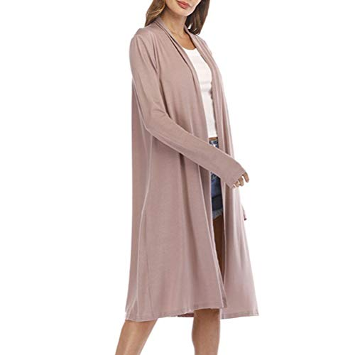 UOFOCO Loose Cardigan Coat for Womens Sexy Long Sleeve Coat Casual Open Front Patchwork - Patchwork Duster