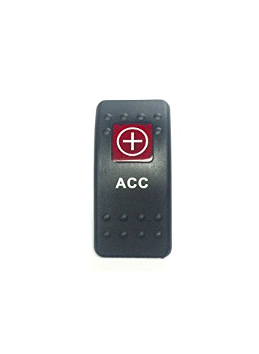 Euro Rocker Switch Cover, ACC. Black with Red Lens. Contura II. Fits Carling, Cole Hersee, Blue seas (ACC)