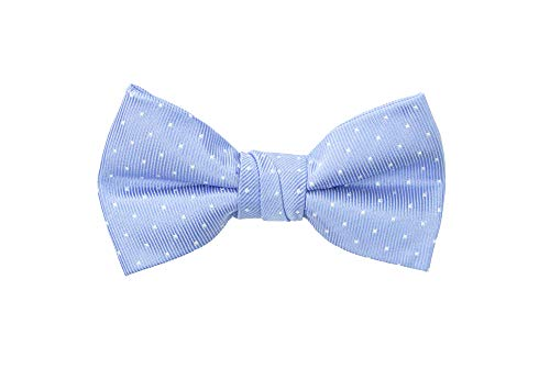 Spring Notion Boy's Dotted Woven Bow Tie Light Blue ()