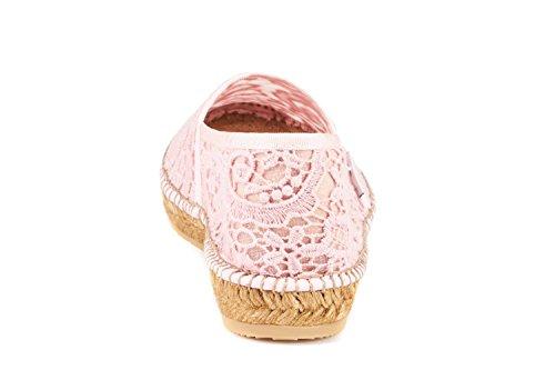 Viscata Garraf Delle Donne Crochet Appartamenti, Autentico E Originale Spagnolo Fatta Rosa Espadrillas Uncinetto