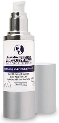 Dark Circles Under Eye Treatment | Anti Aging Serum & Eye Bags Treatment | Revitalize Eye Serum With Matrixyl, Haloxyl, Swiss Apple Stem Cells, 1 fl oz from Earth's Daughter