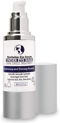 Dark Circles Under Eye Treatment | Anti Aging Serum & Eye Bags Treatment | Revitalize Eye Serum With Matrixyl, Haloxyl, Swiss Apple Stem Cells, 1 fl oz from Earth's Daughter