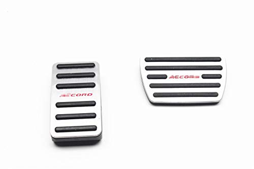 OLIKE 2 Pcs Aluminum Alloy Car Fuel Accelerator Pedal Brake Pedal Cover Kit for Honda Accord 10TH 2018-2019 ()