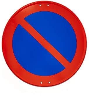 Se/ñal trafico Met/álica Homologada Tipo MOPU 60 cm Reflec N1 Prohibido Aparcar R-308