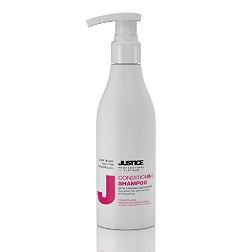 Hair Moisturizing Protein - Conditioning Shampoo with Jojoba Oil and Keratin Protein Treatment | Deep Moisturizing Care and Instant Repair of Damaged, Dry Hair | Restore Body, Smooth and Shine/Justice Professional 300ml 10 oz