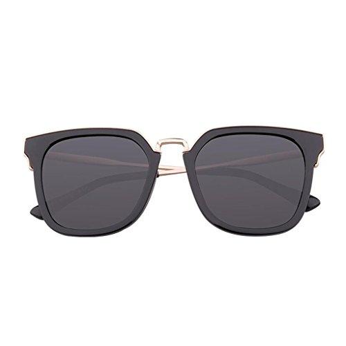 polarizador gafas de marea se de femeninas UV redonda de gafas de las cara Las sol moda femenina de párrafo sol Gray sol de de Frame; Black sol gafas E gafas de miopía con estrellas Nuevas de equipar sol con pueden gafas vqItz5wA