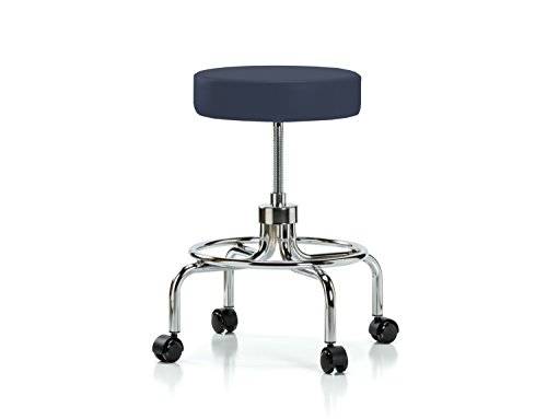 Perch Retro Exam Stool with Wheels Adjustable Height Medical Dental Office Workshop Garage 18.5 - 24