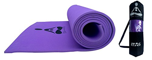 STAG YOGA MANTRA MAT WITH BAG, 4 MM (Purple)