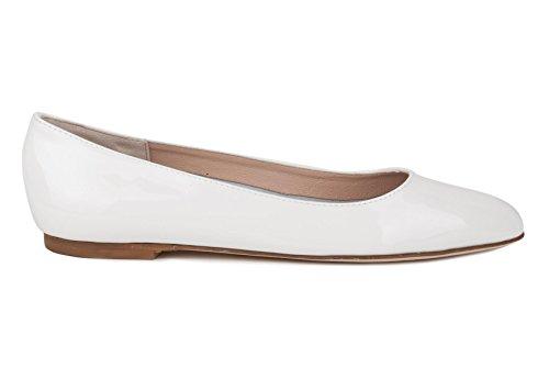 Estate Scarpe Donna Ballerina 2017 E28 White off Primavera SF FLEURY Vernice z7qdnZ4pz