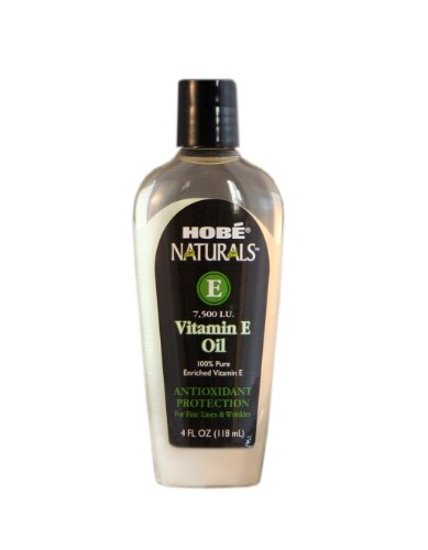 Hobe Naturals Vitamin E Oil, 7,500 IU, 4 Ounce, Health Care Stuffs