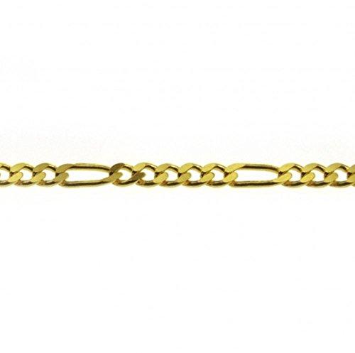 Figaro chaîne gourmette en or jaune 3331,5mm 38cm