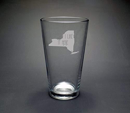 New York I Like It Here Pint Glass