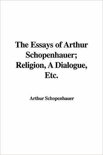 Essays of schopenhauer by arthur schopenhauer
