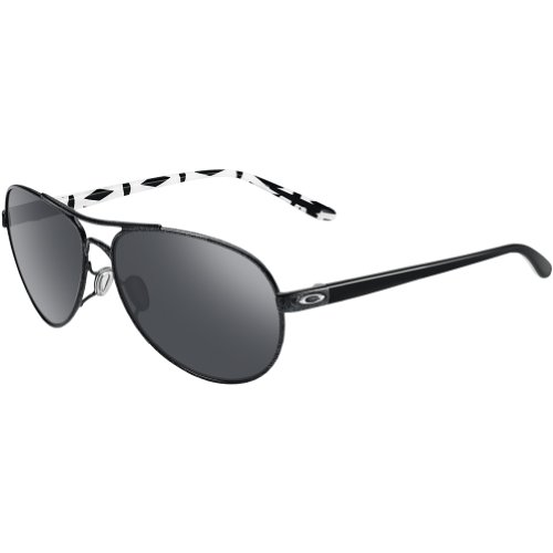 Oakley Feedback Non-Polarized Iridium Aviator Sunglasses,Metallic Black,59 - Womens Aviator Sunglasses Oakley