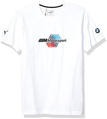 PUMA BMW MMS Motorsport - Camiseta de Manga Corta para Hombre, Hombre, Camiseta, Blanco, Small: Amazon.es: Deportes y aire libre