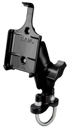 (Ram Mount Handlebar Rail Mount with Zinc Coated U-Bolt Base for iPhone 3G/3Gs - Non-Retail Packaging - Black )
