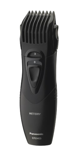 Cordless Washable Beard Trimmer (Panasonic Beard Trimmer, Men's, Cordless, Wet or Dry Operation, ER2403K)