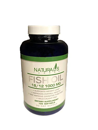 Omega 3 Fish Oil 1000 MG Pills ? Fish Gel Dietary Supplement Capsules ? Contains EPA & DHA ? Supports Weight Loss & Heart Health - Non GMO - 30 Day Supply- 120 Rapid Release Softgels