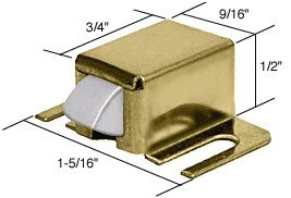C.R. LAURENCE M6128 CRL Brass Shower Door Catch with Stainless Tip