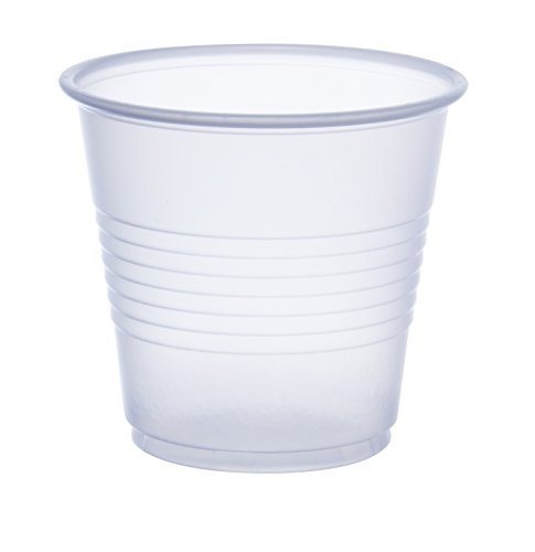 Dart Y35 3.5 oz Trans Ribbed Wall PS Cup (Case of 2500)