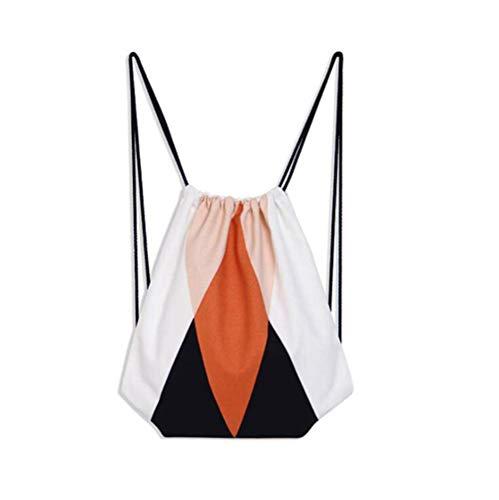 VHVCX cordonnet Toile Bagpack de Style mode Drawstring coton Backpack Cinch Sacs 126 Mochila Sac frais Bookbag Feminina Chaussures école PrEpx8Pw