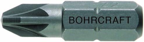2/x 100/mm//Work Box 61301500210 Pack of 1 Bohrcraft Screwdriver Bits 1//4-Inch Pozidriv Screws