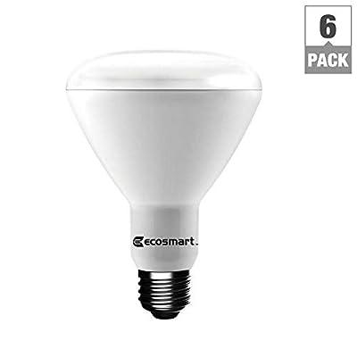 EcoSmart 65-Watt Equivalent BR30 Dimmable CEC LED Light Bulb Daylight (6-Pack)