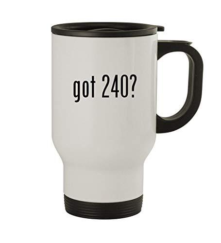 (got 240? - 14oz Sturdy Stainless Steel Travel Mug, White)