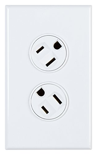 - 360 Electrical 36010-W Rotating Duplex Outlet, White