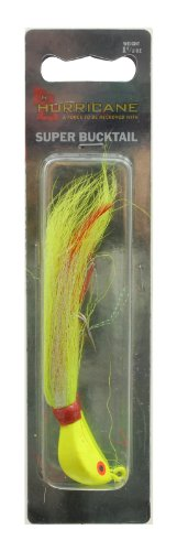 Hurricane Super Bucktail Jig, 1.5-Ounce, Chartreuse