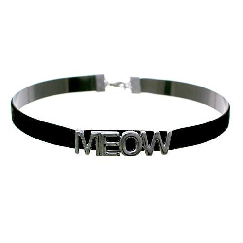 Arsimus Meow Velvet Kitty Choker Necklace