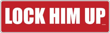 Bumper Sticker: Lock Him Up - Anti Trump Sticker 3