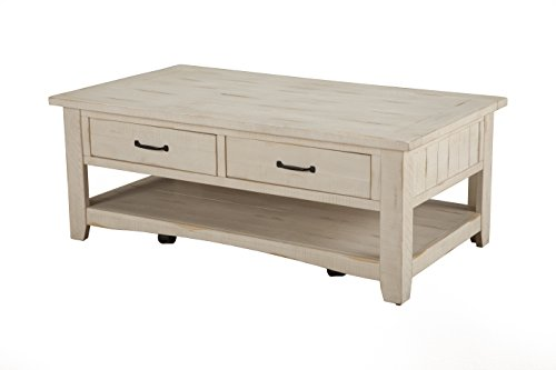 Martin Svensson Home 890123 Rustic Coffee Table, Antique White