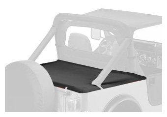 Bestop 90005-15 Black Denim Duster Deck Cover for 80-91 CJ7/Wrangler with Hardtop removed (includes new tailgate bar, retainer clips) by Bestop