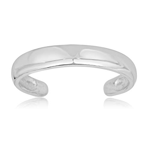 10K White Gold Adjustable Minimalist Toe Ring